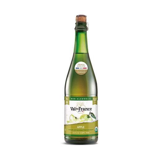 Val de France Organic Sparkling Apple Juice, 25.4 oz