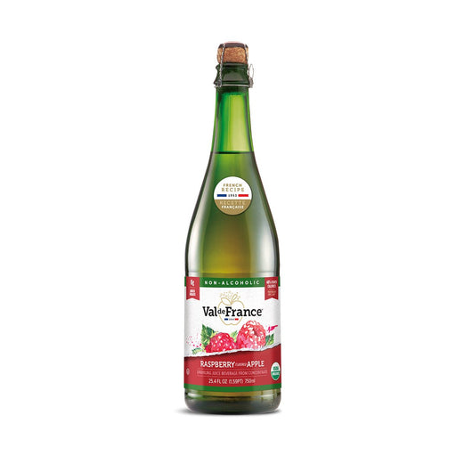 Val de France Organic Sparkling Apple Raspberry Juice, 25.4 oz