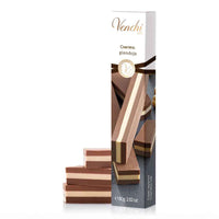 Venchi Triple Layered Cremino Gianduja Bar 2.82 oz