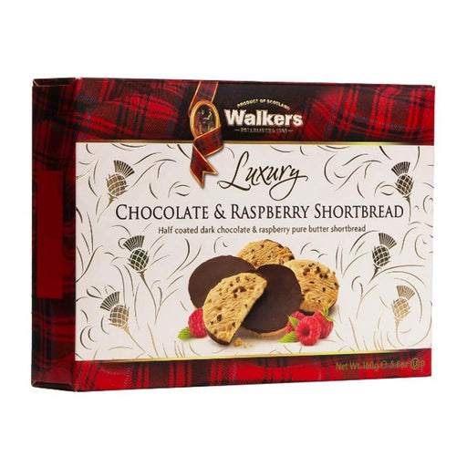 Walkers Luxury Chocolate and Raspberry Shortbread, 5.6 oz (160 g)