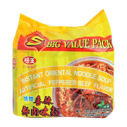 Ve Wong 5-Pack Instant Noodles, Pepper Beef, 3.2 oz. x 5