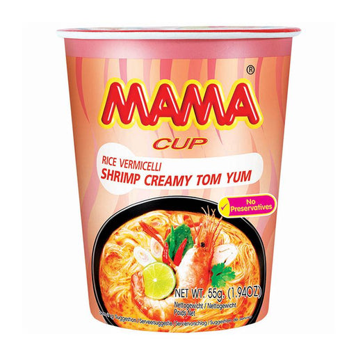 Mama Instant Cup Noodles, Rice Vermicelli Shrimp Creamy Tom Yum, 1.9 oz. (54g)