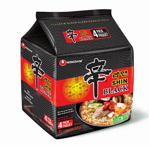 4-Pack Shin Ramyun Black by Nongshim, 4.6 oz. x 4