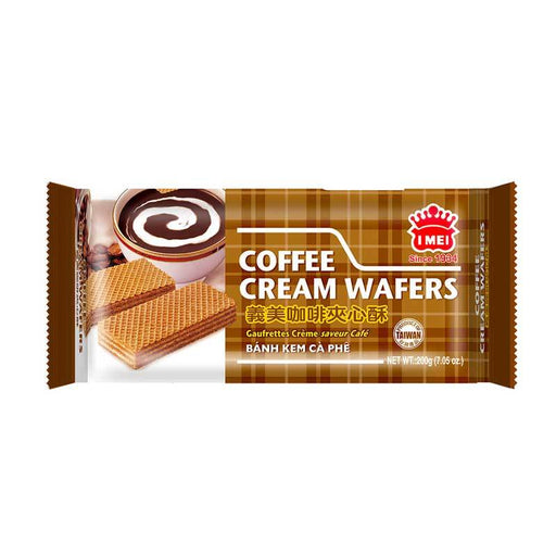 I Mei Cream Wafer, Coffee, 7 oz (200g)