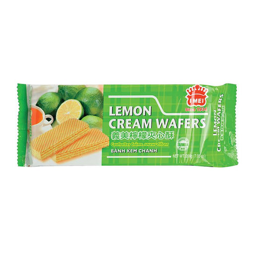 I Mei Cream Wafer, Lemon, 7 oz (200g)
