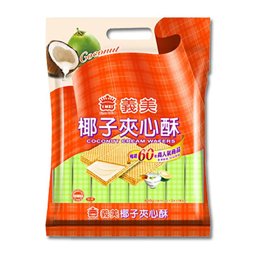 I Mei Cream Wafer, Coconut, 14.1 oz (400g)