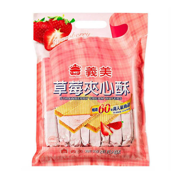 I Mei Cream Wafer, Strawberry, 14.1 oz (400g)