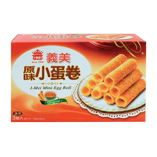 I Mei Mini Egg Roll Butter Cookies, Original, 4 oz (114g)