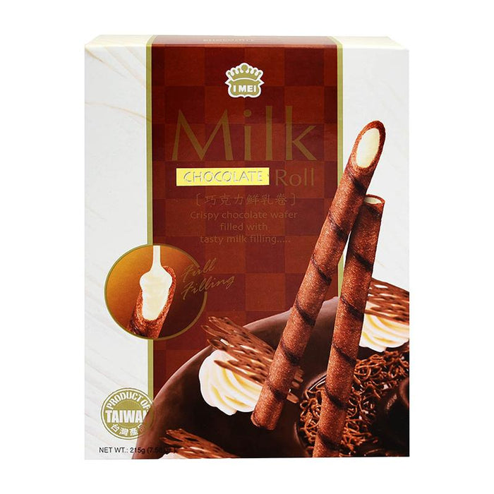 I Mei Milk Roll Cookie, Chocolate, 7.6 oz (215g)