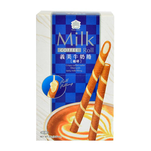I Mei Milk Roll Cookie, Coffee, 3.4 oz (95g)