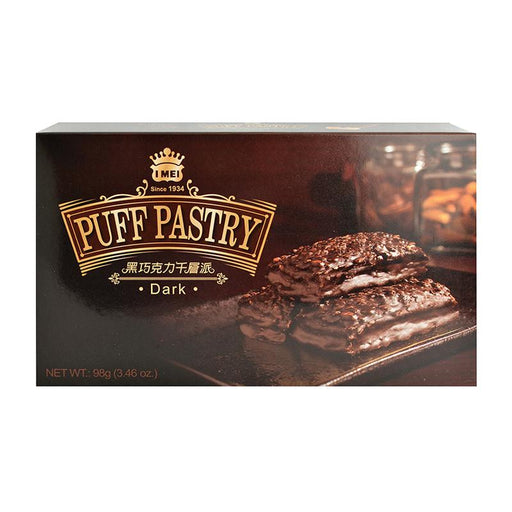 I Mei Puff Pastry Cookie, Dark Chocolate, 3.5 oz (98g)