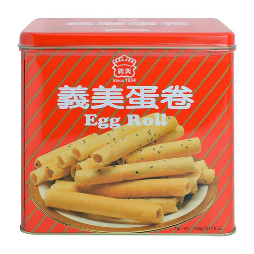 I Mei Egg Roll Cookies Gift Tin, 21.2 oz (600g)