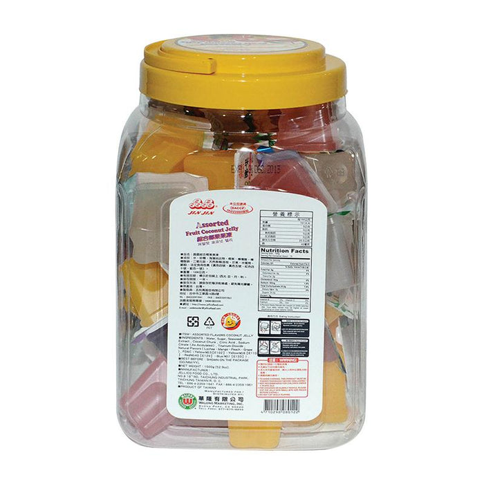 Assorted Fruit Jelly Cups with Coconut Jelly by Jin Jin, 3.3 lbs (1.5kg)