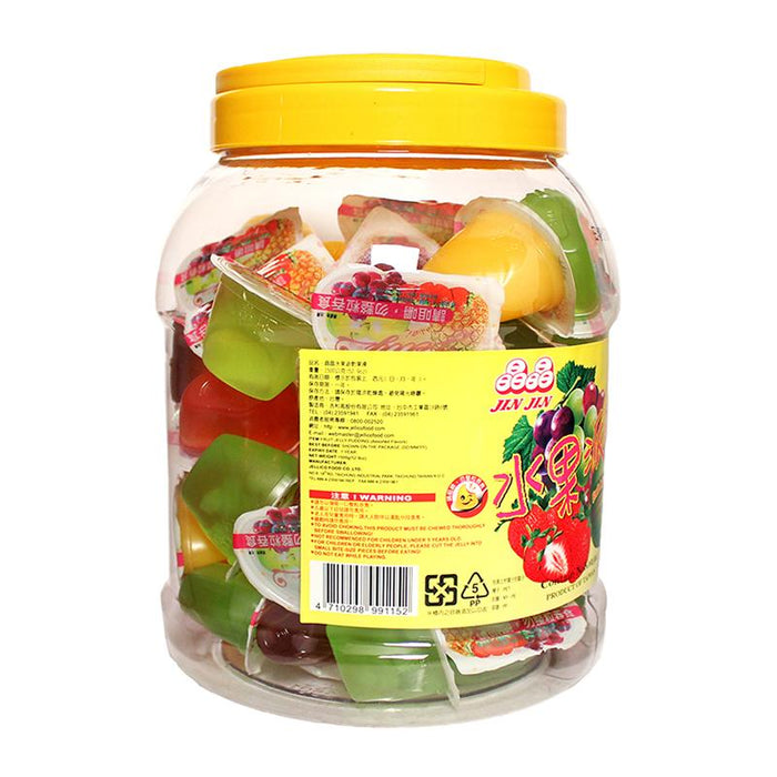 Assorted Fruit Juice Jelly Cups by Jin Jin, Family Size, 3.3 lbs (1.5kg)