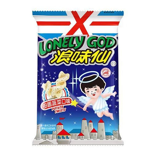 Want Want Lonely God Potato Twists, Vegetable Flavor, 1.5 oz (42g)