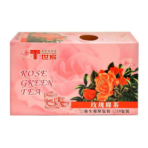 Tradition Rose Green Tea, 20 Tea Bags x 2g