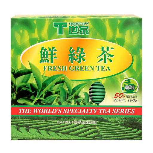 Tradition Green Tea, 50 Tea Bags x 2g