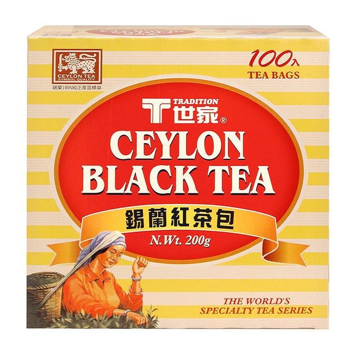 Tradition Ceylon Black Tea, 100 Tea Bags x 2g