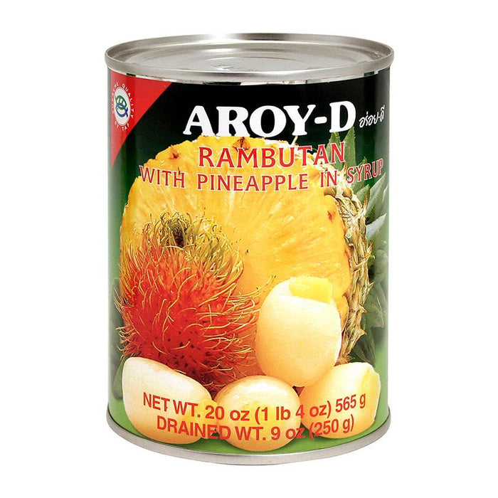 Aroy-d Rambutan with Pineapple in Syrup, 20 oz (565g)