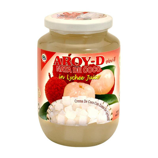 Aroy-d Coconut Jelly Nata in Lychee Juice, 15.9 oz (450g)