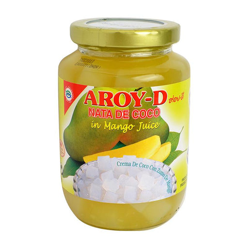 Aroy-d Coconut Jelly Nata in Mango Juice, 15.9 oz (450g)