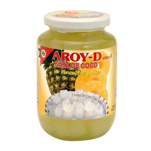 Aroy-d Coconut Jelly Nata in Pineapple Juice, 15.9 oz (450g)