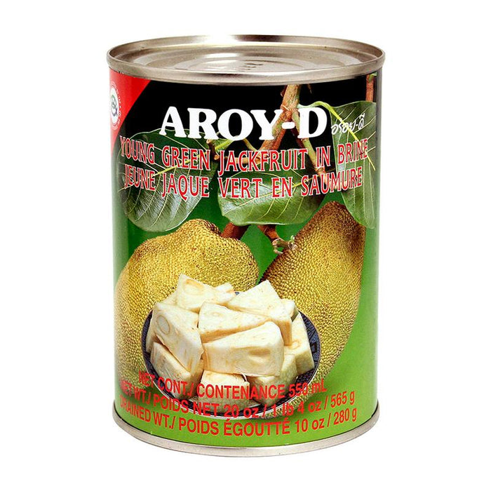 Aroy-d Young Green Jackfruit in Brine, 20 oz (565g)