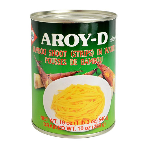 Aroy-d Bamboo Shoots in Water, Strips, 19 oz (540g)