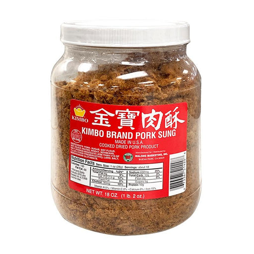 Kimbo Pork Sung Pork Floss, Rousong, Made in USA, 18 oz (510g)