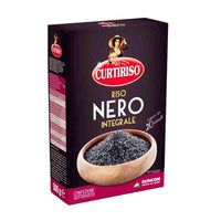 Curtiriso Italian Black Rice, Whole Medium Grain, Parboiled, 1.1 lbs (500g)