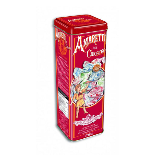 Chiostro di Saronno Crunchy Amaretti Cookies in Tower Tin, 6.2 oz (175 g)