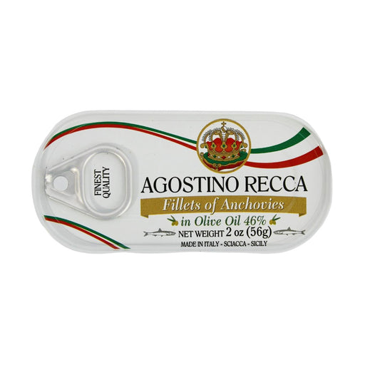 Agostino Recca Anchovies Fillets in Olive Oil, 2 oz (56 g)
