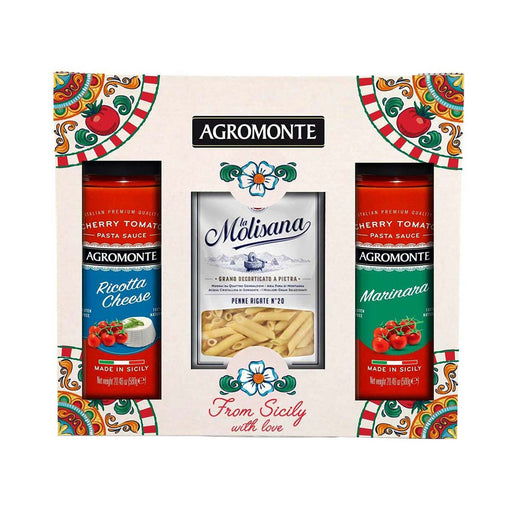 Agromonte Ricotta Cheese and Marinara Sauce with Bronze Die Pasta Gift, 3.5 lb (1.6 kg)