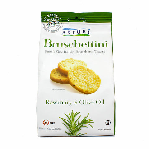 Bruschettini Toasts with Rosemary & Olive Oil by Asturi 4.2 oz