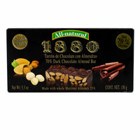 Premium Almond and Dark Chocolate Turron by 1880 5.3 oz