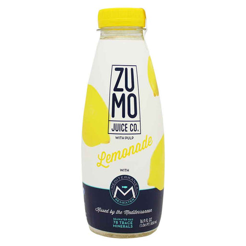 ZUMO Lemonade, Made With Mediterranea Seawater 16.9 fl. oz. (500 mL)