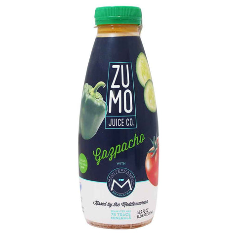 ZUMO Ready-to-Drink, Cold Spanish Vegetable Soup Gazpacho 16.9 fl. oz. (500 mL)