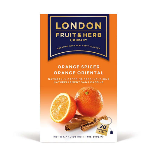 London Fruit & Herb Orange Spicer Tea 20 Tea Bags, 1.4 oz (40 g)