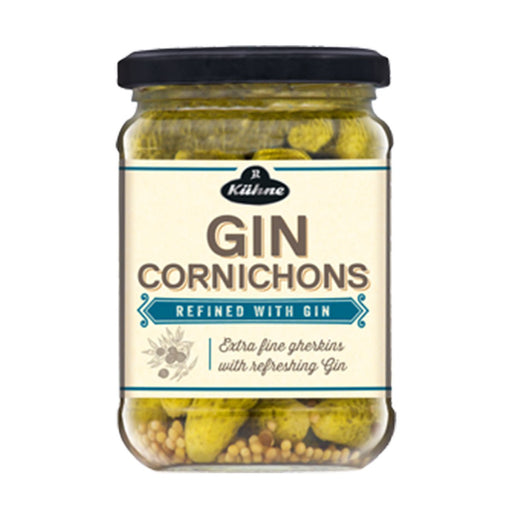 Kuhne Gin Infused Cornichons, 12.5 oz (354 g)