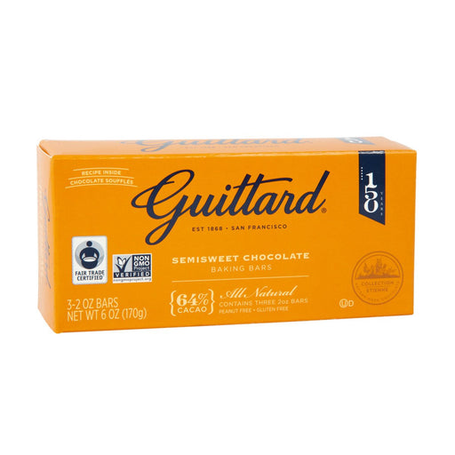 Guittard Semi-Sweet Chocolate Baking Bars, 6 oz (170 g)