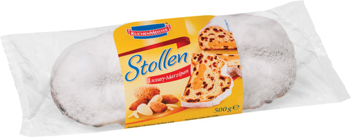 Luxury Marzipan Stollen Medium - Cello by Kuchenmeister, 1.1 lb (500 g)