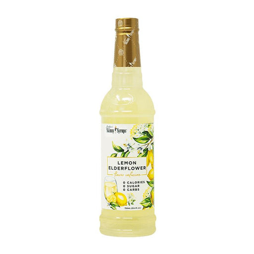 Lemon Elderflower Skinny Syrup Flavor Infusion by Jordan's Skinny Mixes, 25.4 fl oz (750 ml)