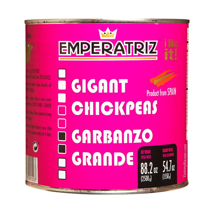 Emperatriz Cooked Giant Spanish Chickpeas, 88.2 oz (2.5 kg)