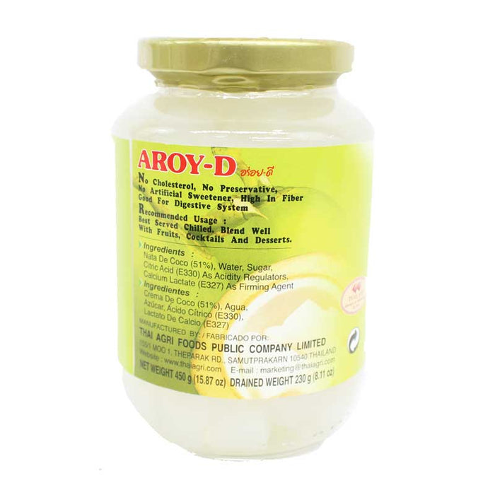 Aroy-d Coconut Jelly Nata in Syrup, 20 oz (565g)