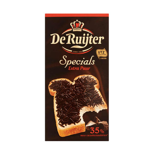 De Ruijter Extra Pure Chocolate Sprinkles, 8.4 oz (239 g)