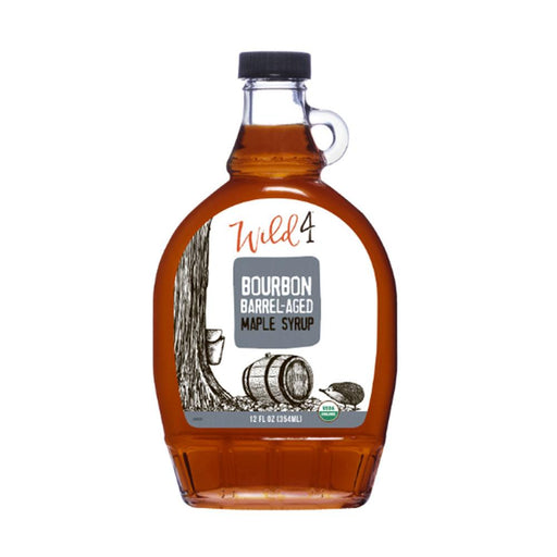 Wild4 Bourbon Barrel Aged Maple Syrup, 8 fl (237 g)