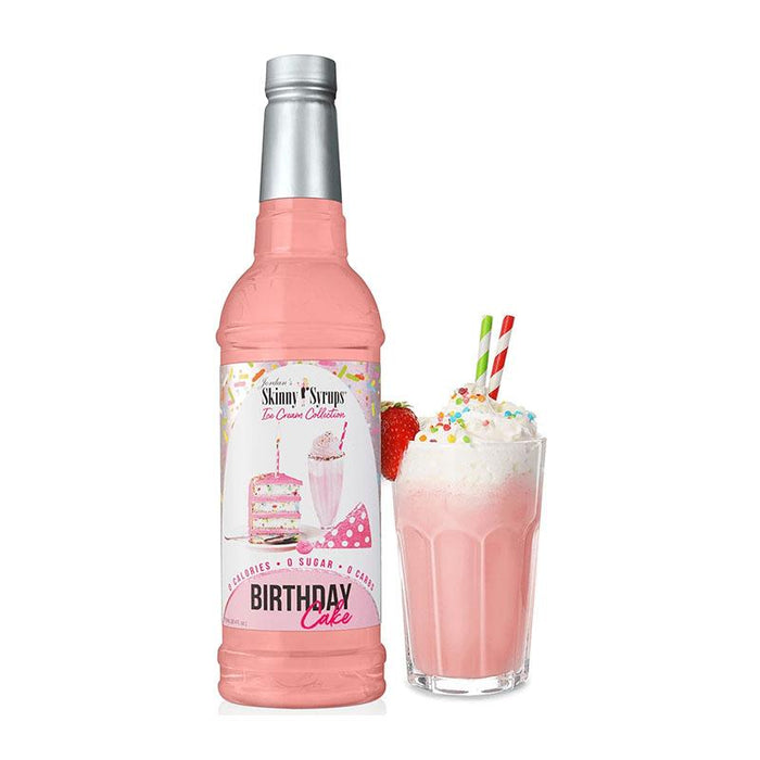 Sugar Free Birthday Cake Syrup by Jordan's Skinny Mixes, 25.4 fl oz (750 ml)