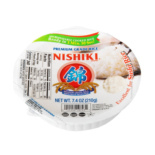 Nishiki Premium Steamed Rice, Ready to Eat, 7.4 oz (209.7865 g)
