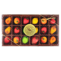 Bergen Marzipan Fruit Shaped Marzipan 8 oz. (18 Pcs)