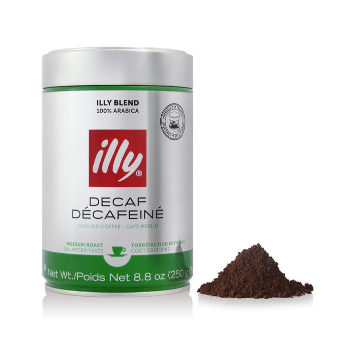illy Decaffeinated Ground Espresso, 8.8 oz (250 g)